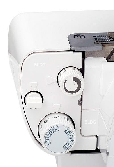 overlock-nähmaschine coverstich evolution einstellmöglichkeit